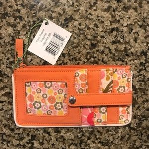 NWT Vera Bradley Orange Card Keeper